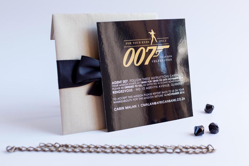 007 year end function invitations rebelle design 007 year end function invitations stopboris Choice Image